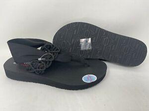 NEW! Skechers Women's Meditation Inhale Comfort Thong Sandals Blk #32909 142i tz