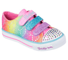 New Girl's Skechers Twinkle Toes: Shuffles - Rainbow Madness (10612L) (M25) 2