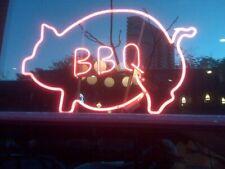 "Neon Light Sign 32""x24"" Open Bbq Pig Chef Bar Beer Glass Artwork Decor Lamp"