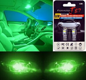 LED 3030 Light Green 168 Two Bulbs Front Side Marker Parking Lamp OE Fit Show