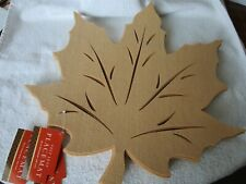 Felt Leaf Placemat in Gold - Set of 6 New with Tags Bed Bath Beyond Natural Look