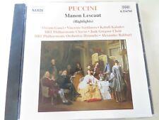 PUCCINI - Manon Lescaut: Highlights - CD Album - 1992 - Alexander Rahbari