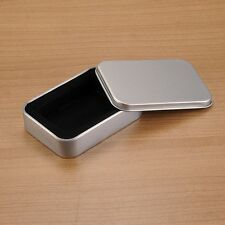 Silver Metal Storage Cigarette Cigar Lighter Holder Pocket Tobacco Storage Case