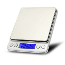 3Kg x 0.1g Slim Digital Kitchen Scale Stainless Steel 6.6lb x 0.003oz Food /Mail