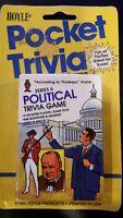 Vintage HOYLE POCKET TRIVIA Card Game Series 6 Political Version 1984 NEW SEALED