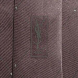 Solid Purple Silk YSL Tie