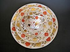 Royal Crown Derby 5Pc Setting ASIAN ROSE #8687 Dinner Salad Butter Cup Saucer