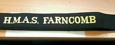 HMAS FARNCOMB Cap Tally Cap Ribbon ROYAL AUSTRALIAN NAVY