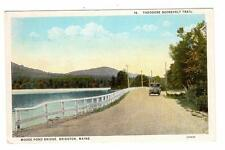 ME - BRIDGTON MAINE Postcard MOOSE POND BRIDGE THEODORE ROOSEVELT TRAIL