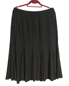 KATE HARRIS Size 18 (XL) Ladies Flared Hem, Basic Black Skirt - Fully Lined