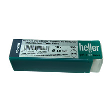 Heller 4mm HSS Cobalt Metal Drill Bits 10 Pack HSS-Co High Quality German Tools