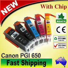 10pc Ink Cartridges CLI 651 XL PGI 650 for Canon Pixma IP7260 MX926 MG5460 MX920