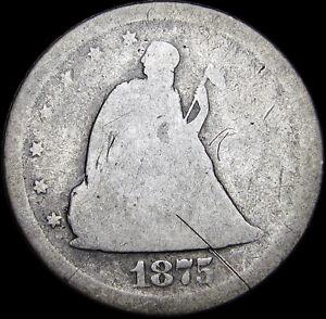 1875-S Twenty Cent Piece 20cp Silver US ---- Nice Details Type Coin ---- #U122