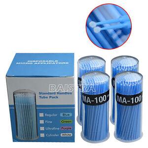 400pcs Dental Disposable Blue Micro Applicator Microbrush Regular 2.5mm AZDENT