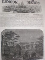 Donati's Comet as seen from Greenwich park London 1858 old print