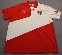 PUMA Logo Team Canada Country Badge Mens Red & White Cotton SS Polo Shirt NWT  M
