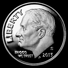 2013 S Roosevelt Dime Clad Proof ~ Deep Cameo from Proof Set