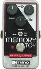 Electro-Harmonix Memory Toy Analog Echo Chorus Delay Nano Guitar Pedal +Picks