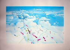 Jacques Monory : Lithographie Originale Signée et Numerotée au crayon Bleu Avion