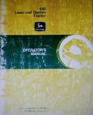 John Deere 430 Diesel Lawn Garden Tractor & Implement Operating (5 Manuals) 266p