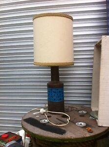 Vintage Mid Century ITALY MOD Rimini Blue ALDO LONDI Bitossi Raymor POTTERY LAMP