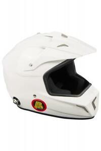 FIA Cross Helm mit Hans Clips Beltenick 8859-2015 Kart Cross helmet weiß