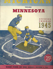 1945 Michigan MInnesota college football program Crisler Oosterbaan Elliott
