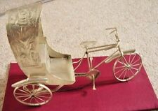 collectable metal VINTAGE CHINESE Rickshaw bike-BICYCLE-ornament