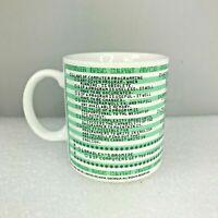 Kenneth Grooms Laws Of Computer Programming Languages Mug Cup Dot Matrix 1982