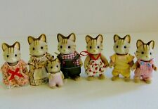 Sylvanian Families MaCavity Striped Cat Family of 7 Figures