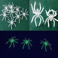 10PCs noche de Halloween Luminoso pequeña Araña de utilería Decorativo De Suministros Fiesta Nuevo