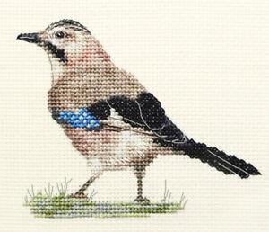 JAY ~ Garden Bird ~ Full counted cross stitch kit + all materials  *FIDO STUDIO