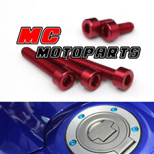 Red CNC Petrol Fuel Cap Tank Bolts For Ducati 848 1098 1198 S R All Year