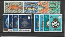 ASCENSION three commemorative sets as scan all unmounted/MNH