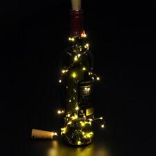 6× Mode Korken geformte LED-Nachtlicht- Starry Light Wein Flaschen Lampe Xmas De
