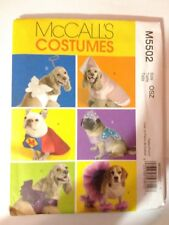 McCall's 5502 Pet Dog Costumes