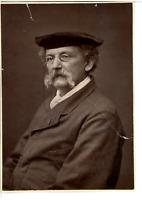 France, Théodule Ribo, artiste peintre  Vintage print. Théodule Ribot, né à Sain