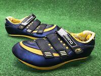 Shimano Sh-r121 Women's Cycling Shoes Size 43 Or US 10 Navy Blue Yellow Biking