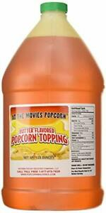 Butter Flavored Popcorn Topping Oil 1 Gallon Like-At-The-Movies-Popcorn Taste