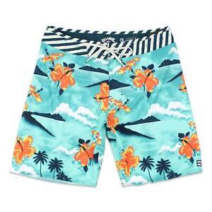 "Billabong Mens 19"" Sundays Aitlite Boardshorts Sea Green 33 New"