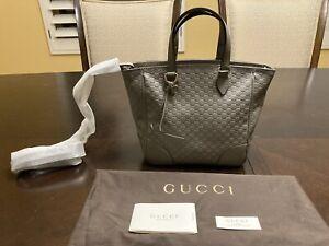 New Authentic Gucci GG Guccissima Leather Tote Gray Bag