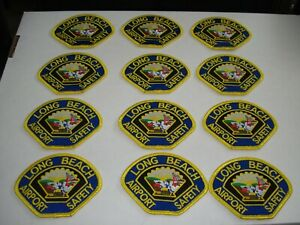 Lot of 12 City of Long Beach Police Airport Safety Officer Patches O/S New Cond