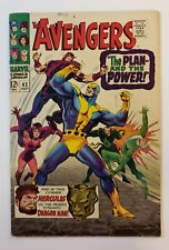 """Avengers #42 Marvel Comics 1967 """"The Plan And The Power"""" FN- Silver Age"""
