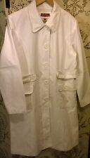 NEW Wit & Wisdom White linen blend fully lined knee-length coat Size 16
