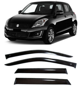 For Suzuki Swift Hb 2010-2015 Side Window Visors Sun Rain Guard Vent Deflectors