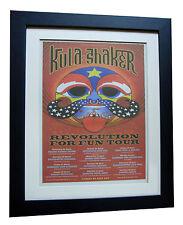 KULA SHAKER+UK TOUR+POSTER+AD+RARE ORIGINAL 1998+FRAMED+EXPRESS GLOBAL SHIP
