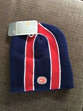Nike stripe Golf beanie winter hat blue, red and white