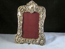 More details for victorian art noveau sterling silver antique photo picture desk frame birds 1896