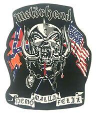 MOTORHEAD - Nemo Malus Felix - Shaped WOVEN Giant BACKPATCH Rare R.I.P. Lemmy