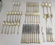 """Towle Petit Point """"French Provincial"""" Sterling Silver Flatware 49 pcs"""